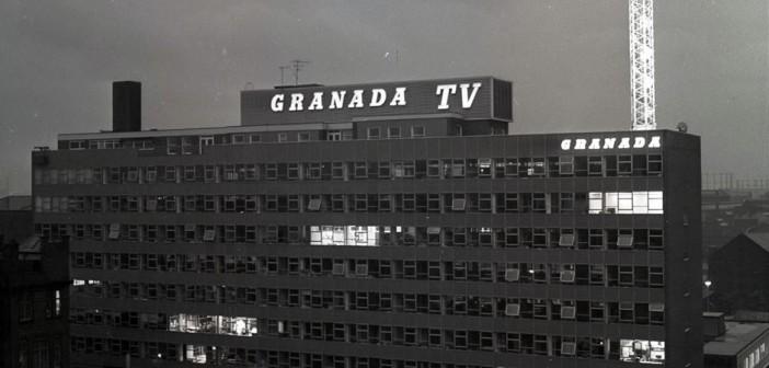 Ext Granada at night b&w
