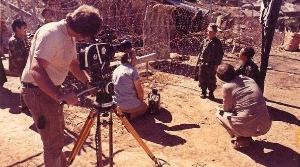Filming with child soldier