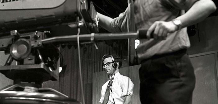 Studio cameraman and floor managerInStudio