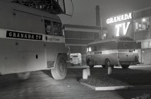 GRANADA TELEVISION  1960  OB UNITS ;EAVING CAR PARK LODGE  COPYRIGHT GRANADA