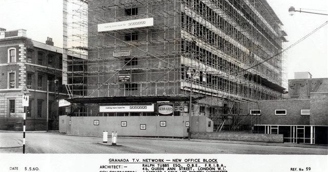 Scaffolding on GTV during construction 1960. copy
